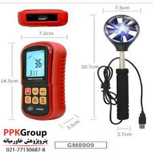سرعت سنج باد و دماسنج دیجیتالی بنتک مدل BENETECH GM8909
